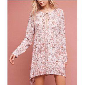 Anthropologie Lilka | Pink Paisley Keyhole Dress